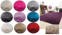 Champagne Colour Thick Super Soft Fluffy Deep Pile Luxury Plain Stylish Modern Shaggy Rugs